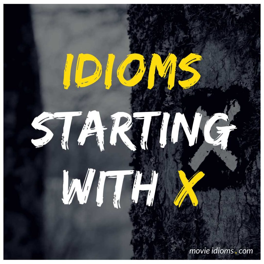 X Idioms List: Idioms Starting With X
