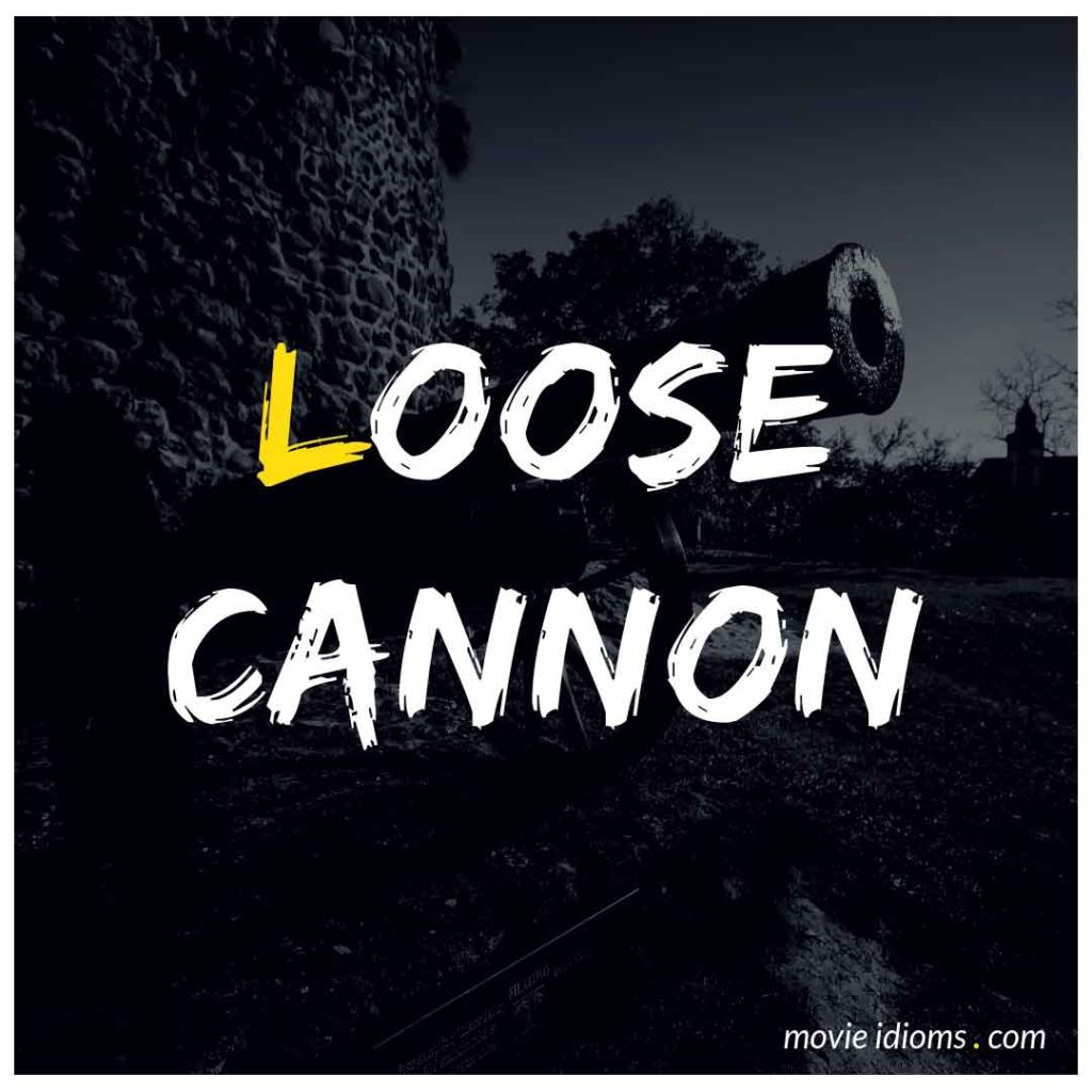 Loose Cannon Idiom
